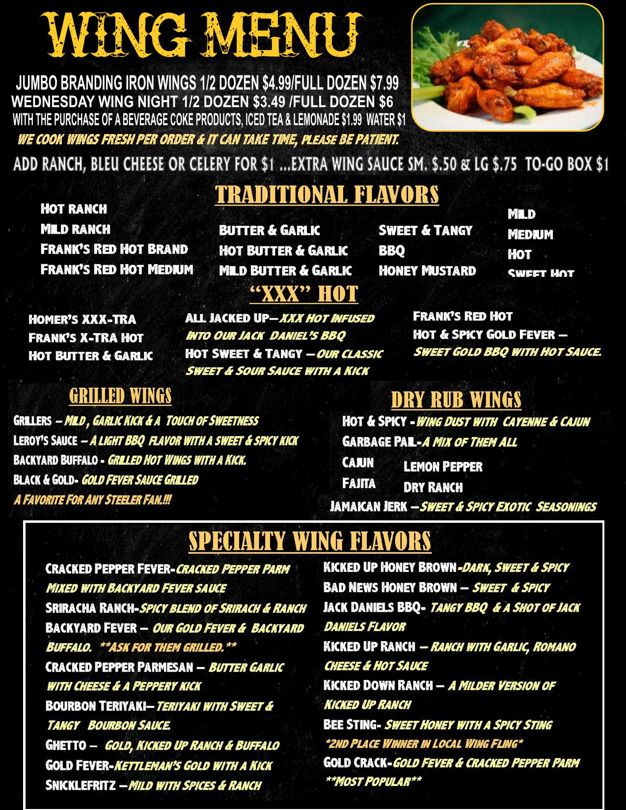 CHALK MENU WINGS 2018