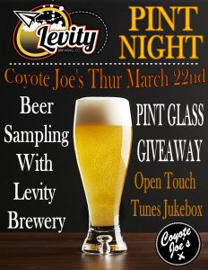 LEVITY PINT NIGHT